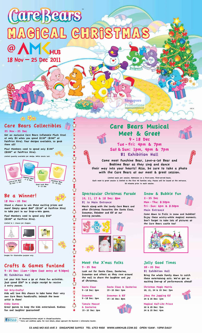 AMK Hub Christmas Events, Carebears