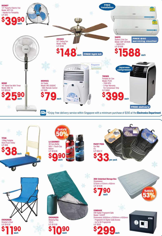 Booney Electric Fan BPF120, Amasco Ceiling Fan F5AB, Sanyo System 2 Air Conditioner SAP-CN1826