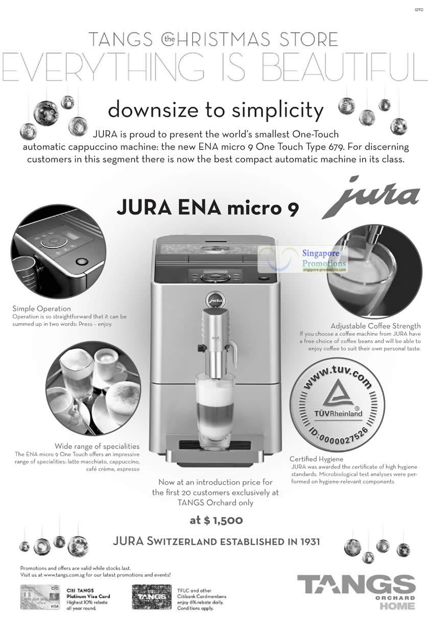 Jura Ena Micro 9 Cappuccino Machine