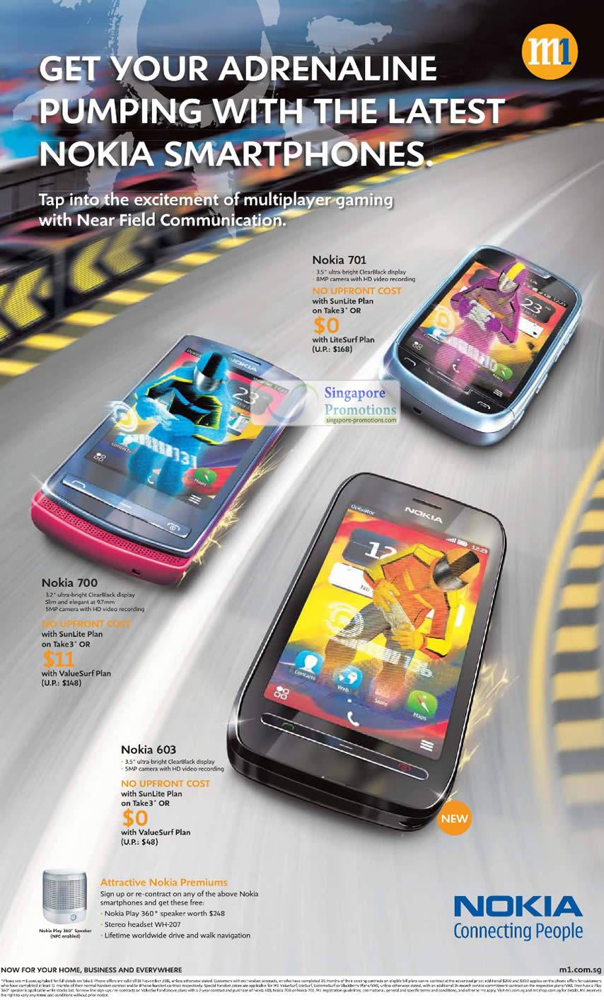 Nokia 701, Nokia 700, Nokia 603