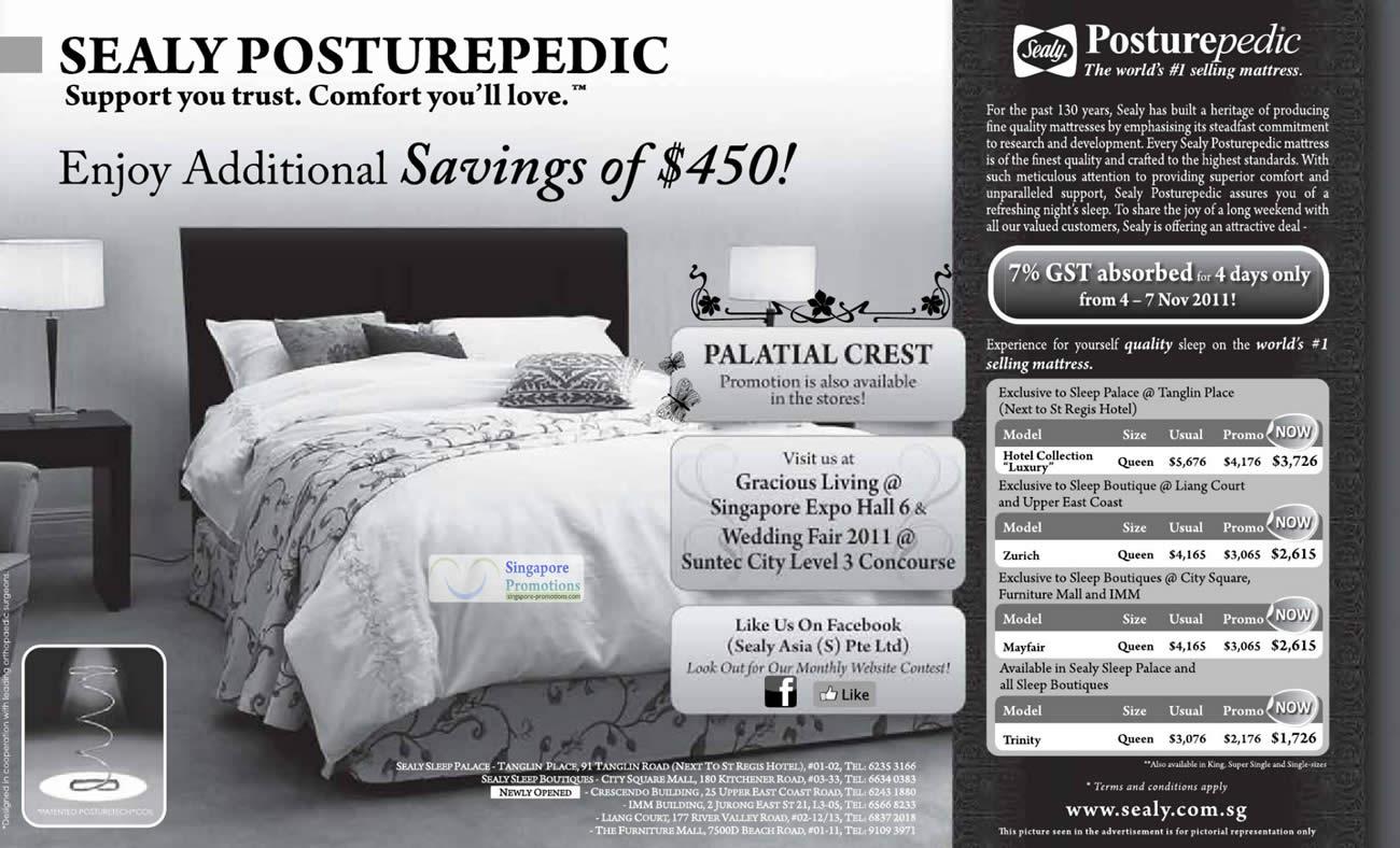Sealy Posturepedic 4 Nov 2011