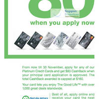 Read more about Standard Chartered Bank Singapore Get $80 CashBack For Applying Credit Card 2 - 30 Nov 2011