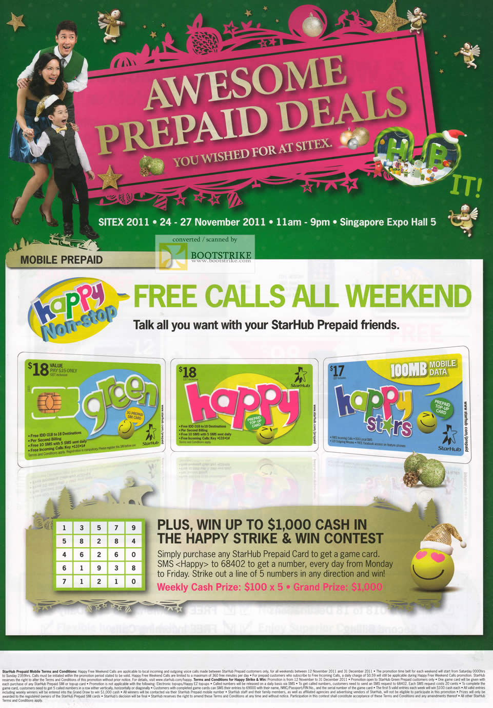Starhub Maxmobile Prepaid Free Calls All Weekend, Green, Happy, Happy Stars