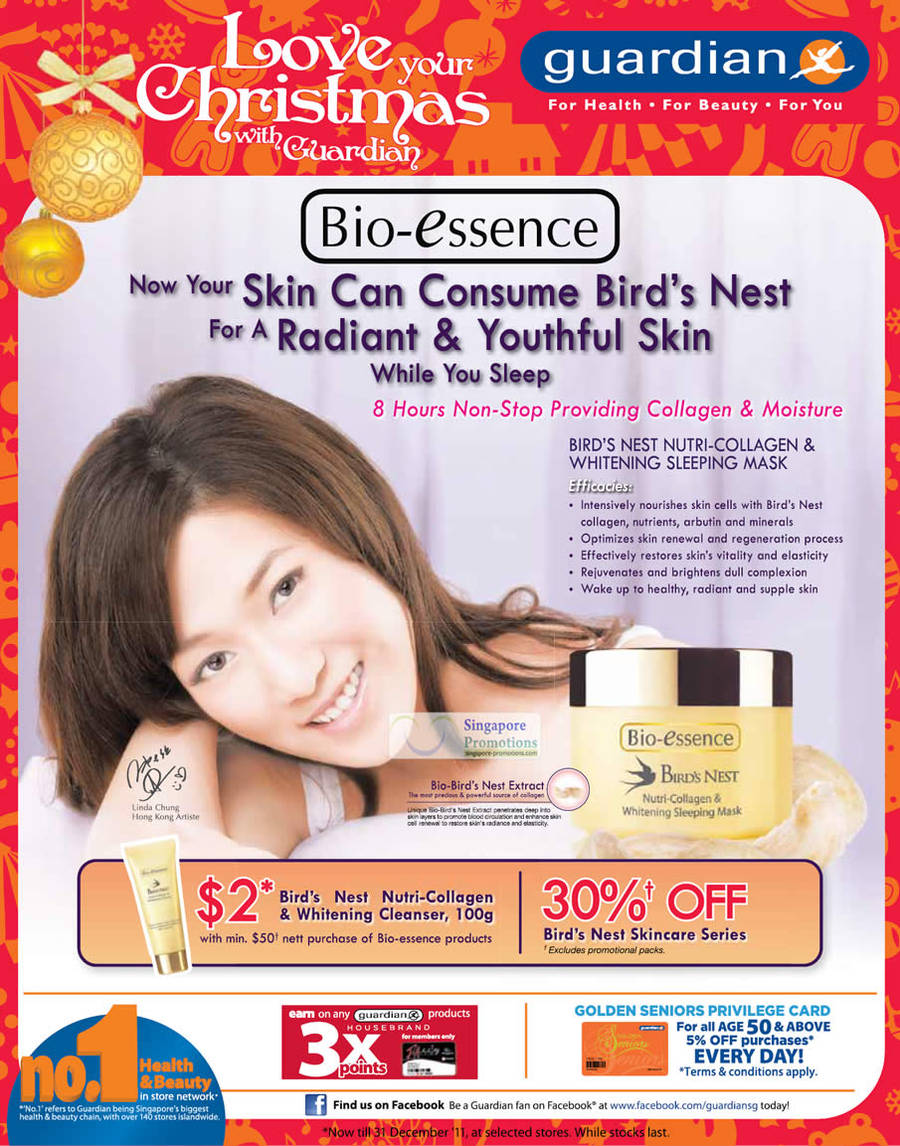 Bio-Essence Birds Nest Nutri-Collagen And Whitening Sleep Mask