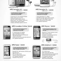 Read more about HTC Smartphones Mobile Phones No Contract Price List 17 - 31 Dec 2011