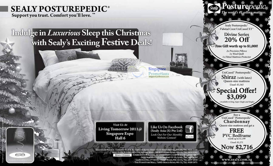 Mattress Sealy Posturepedic UniCased Posturepedic Shiraz, Sealy UniCased Posturepedic Chardonnay