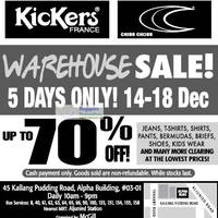 Read more about McGill Kickers France & Criss Cross Up To 70% Off Warehouse Sale 14 - 18 Dec 2011
