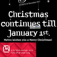 Read more about Metro Post Christmas Sale 26 Dec 2011 - 1 Jan 2012