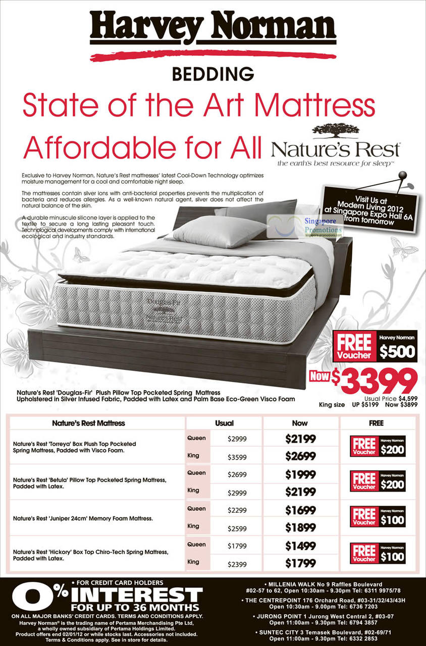 Nature's Rest Torreya Box Plush Top Pocketed Spring Mattress, Nature's Rest Betula Pillow Top Pocketed Spring Mattress, Nature's Rest Juniper Memory Foam Mattress., Nature's Rest Hickory Box Top Chiro-Tech Spring Mattress, Nature's Rest Douglas-Fir Plush Pillow Top Pocketed Spring Mattress