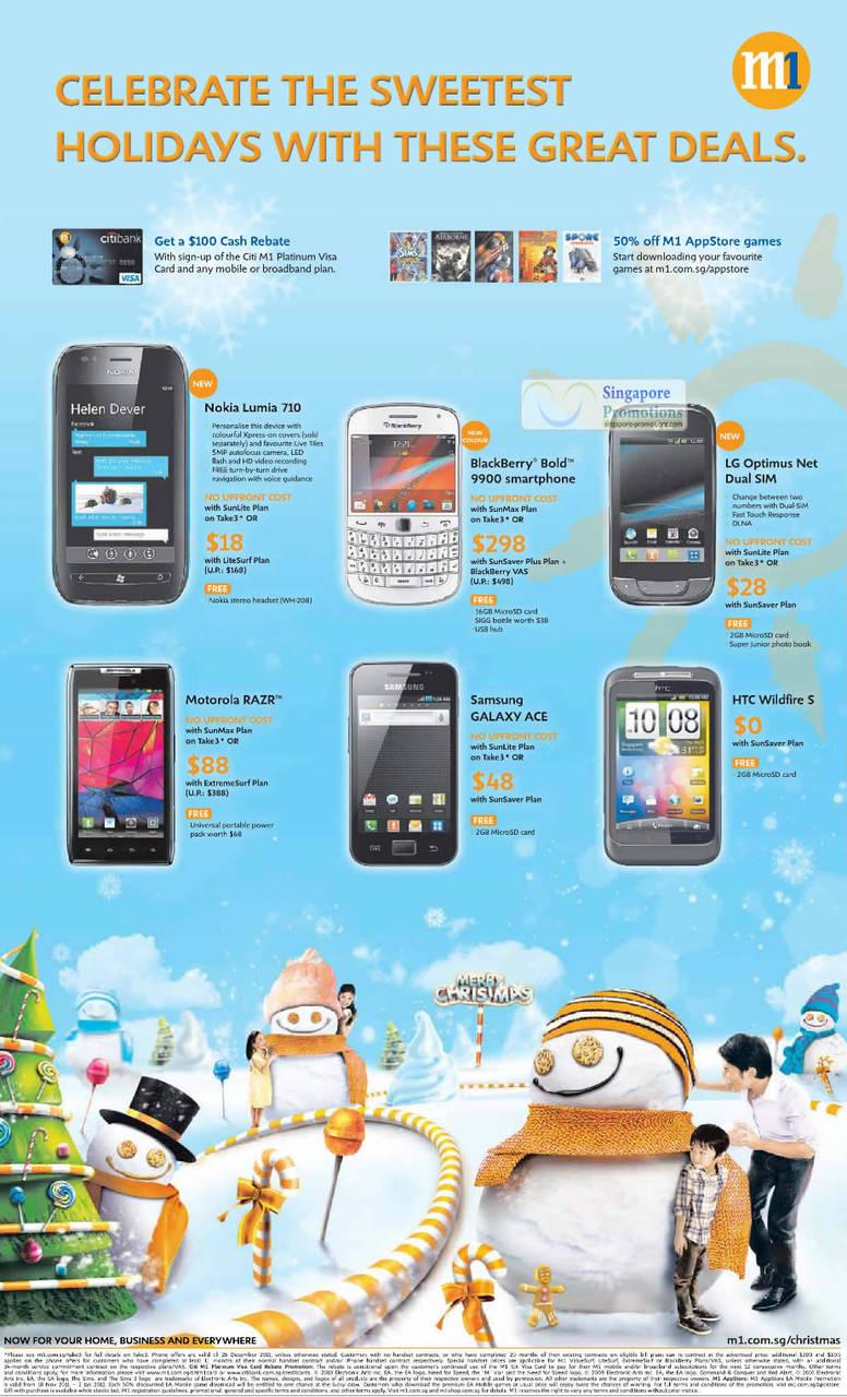 Nokia Lumia 710, Blackberry Bold 9900, LG Optimus Net Dual SIM, Motorola Razr, Samsung Galaxy Ace, HTC Wildfire S