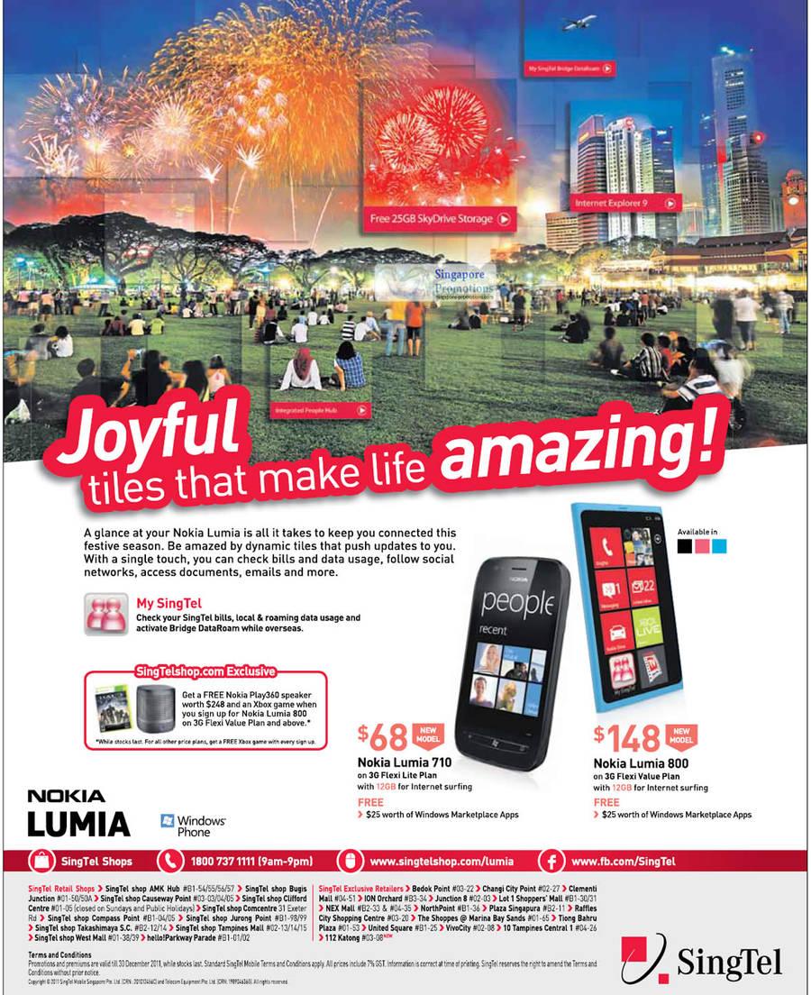Nokia Lumia 710, Nokia Lumia 800