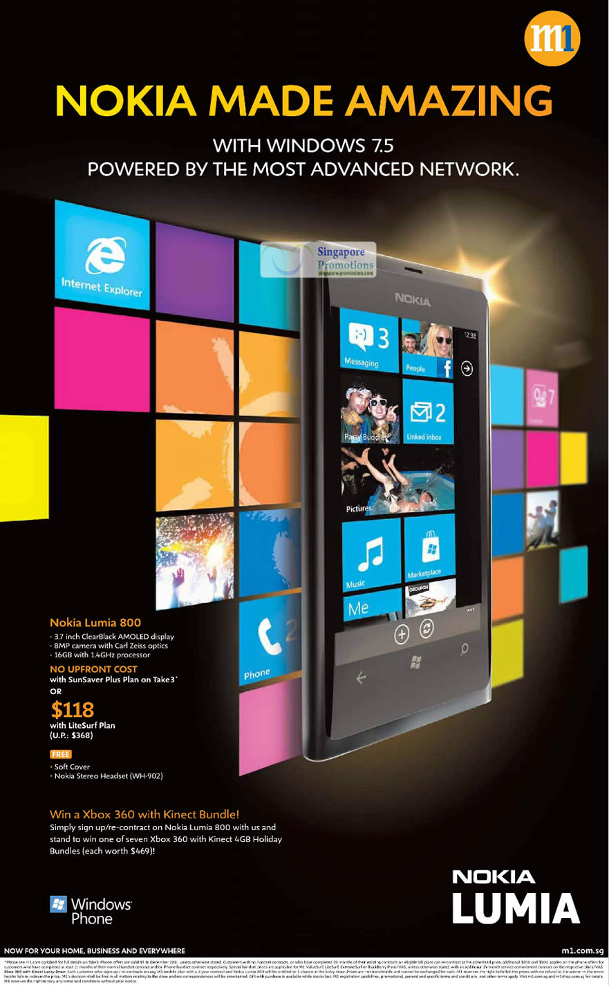 Nokia Lumia 800 M1, Xbox 360