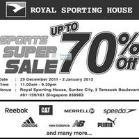 Read more about Royal Sporting House Post Christmas Sports Sale Up To 70% Off 25 Dec 2011 - 2 Jan 2012