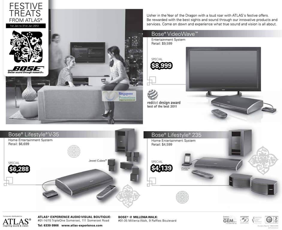 Bose VideoWave Entertainment System, Bose Lifestyle V-35 Home Entertainment System, Bose Lifestyle 235 Home Entertainment System
