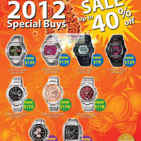 Read more about Casio Watches Up To 40% Off Chinese New Year Sale 16 Jan - 29 Feb 2012
