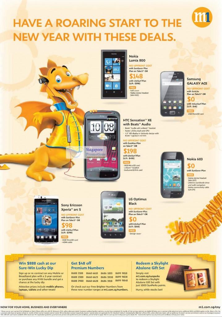 Nokia Lumia 800, 603, Samsung Galaxy Ace, HTC Sensation XE, Sony Ericsson Xperia Arc S, LG Optimus Black
