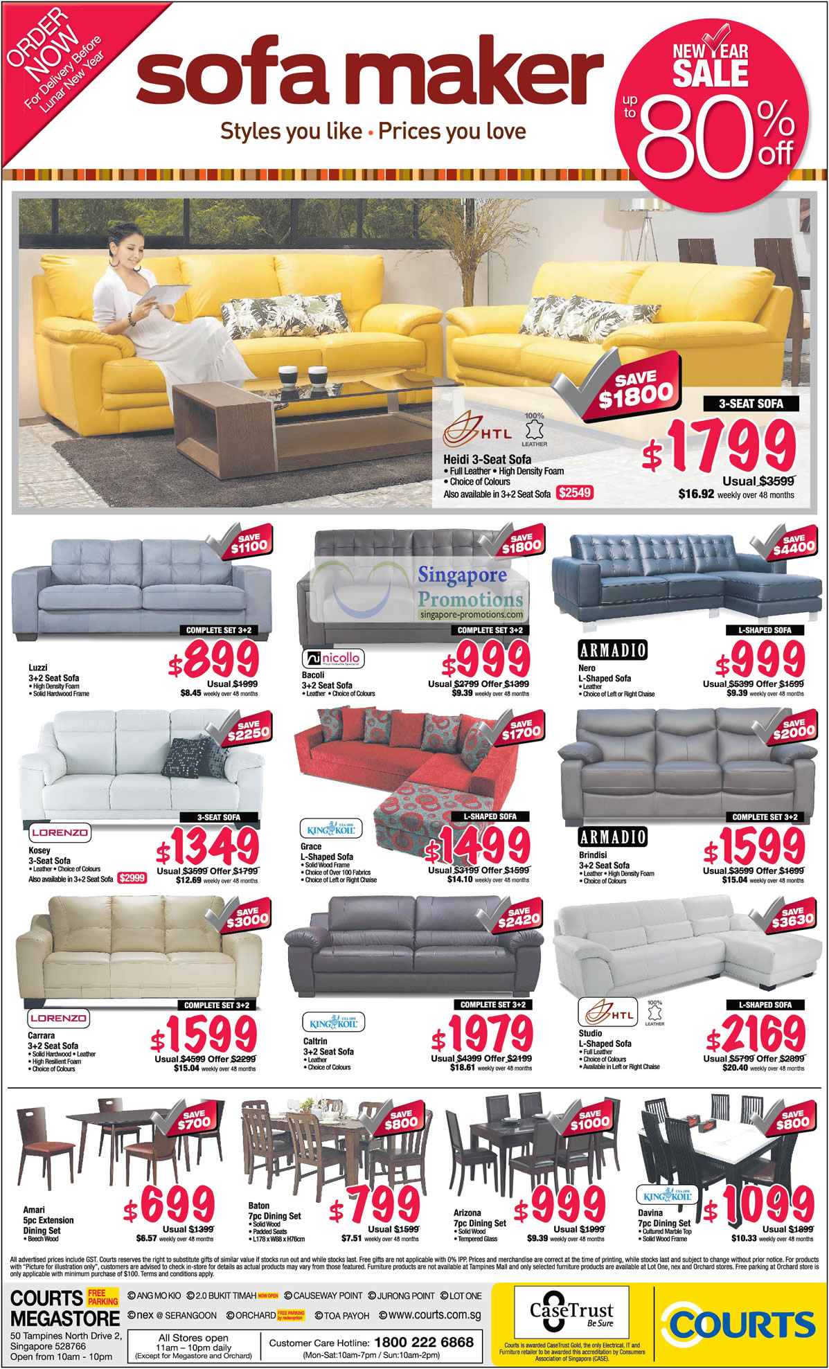 Sofa Sets, Dining Sets