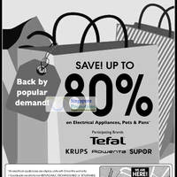 Read more about Tefal, Krups, Rowenta & Supor Warehouse Sale Up To 80% Off 5 - 6 Jan 2012