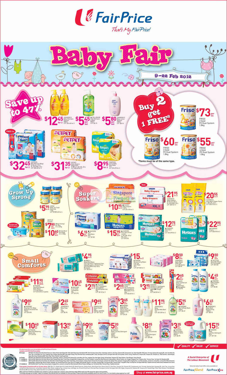 FRISO 2 Gold P2 Dual System Milk Powder, FRISO 4 Gold P2 Dual System Milk Powder, FRISO 3 Gold P2 Dual System Milk Powder, PETPET Baby Diapers Mega Pack, DRYPERS Wee Wee Dry Mega, KODOMO Baby Laundry Detergent