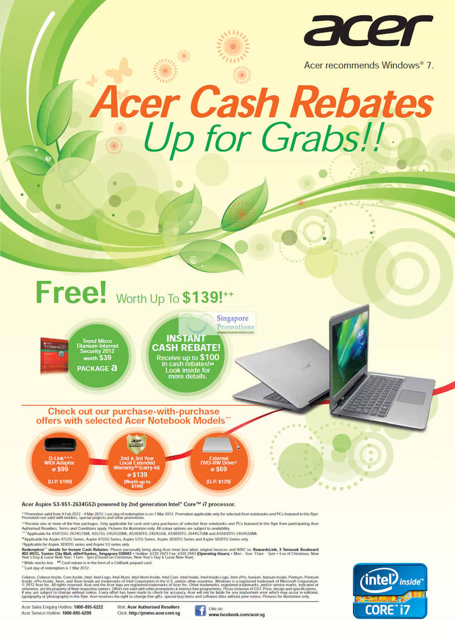 Cash Rebates, Free Gifts