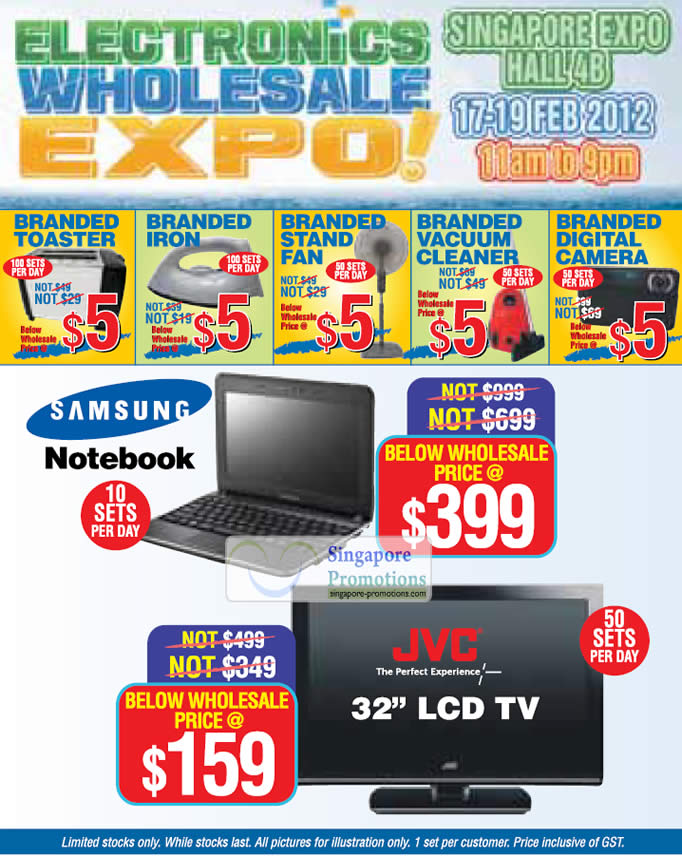 Five Dollar Deals, Samsung Notebook, JVC 32 LCD TV