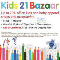 Read more about Kids 21 Bazaar Up To 70% Off @ Forum The Shopping Mall 24 Feb - 4 Mar 2012