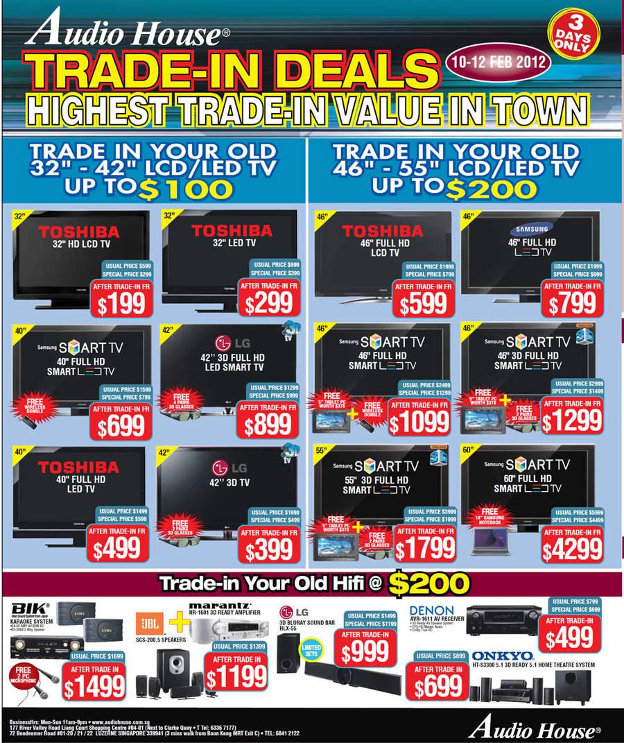 LED TVs, LCD TVs, Smart TVs