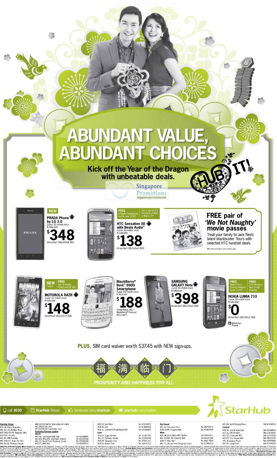 Prada Phone by LG 3.0, HTC Sensation XE, Motorola Razr, Blackberry Bold 9900, Samsung Galaxy Note, Nokia Lumia 710