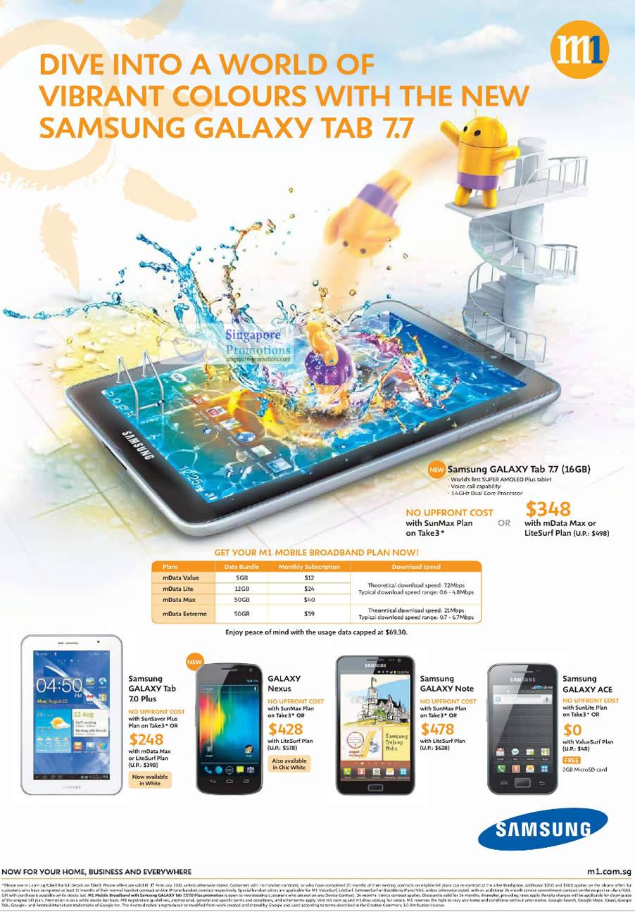 Samsung Galaxy Tab 7.7, Galaxy Tab 7.0 Plus, Galaxy Nexus, Galaxy Note, Galaxy Ace