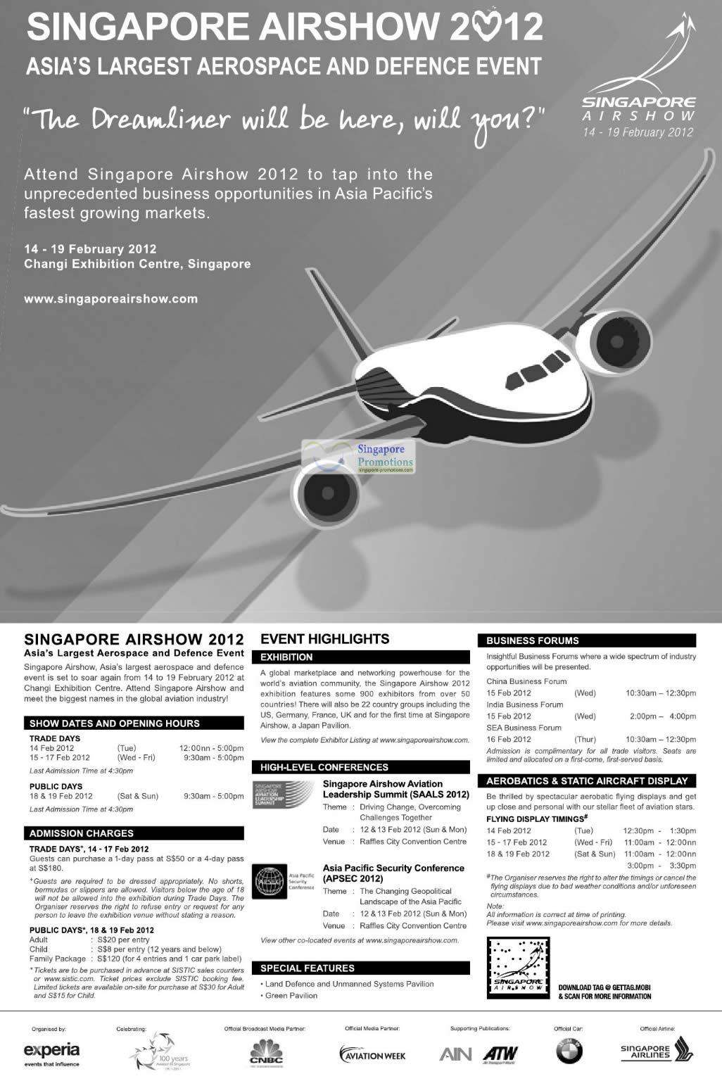 Show Details, Highlights, Forums, Conferences, Aerobatics, Displays
