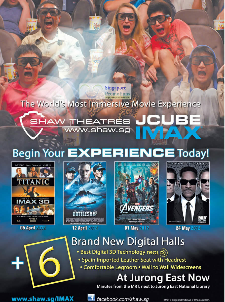 5 Apr JCube IMAX, Six Digital Halls