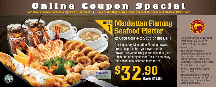 Manhattan Flaming Seafood Platter Coupon