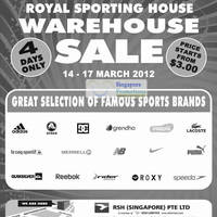 Read more about Royal Sports House Warehouse Sale 14 - 17 Mar 2012