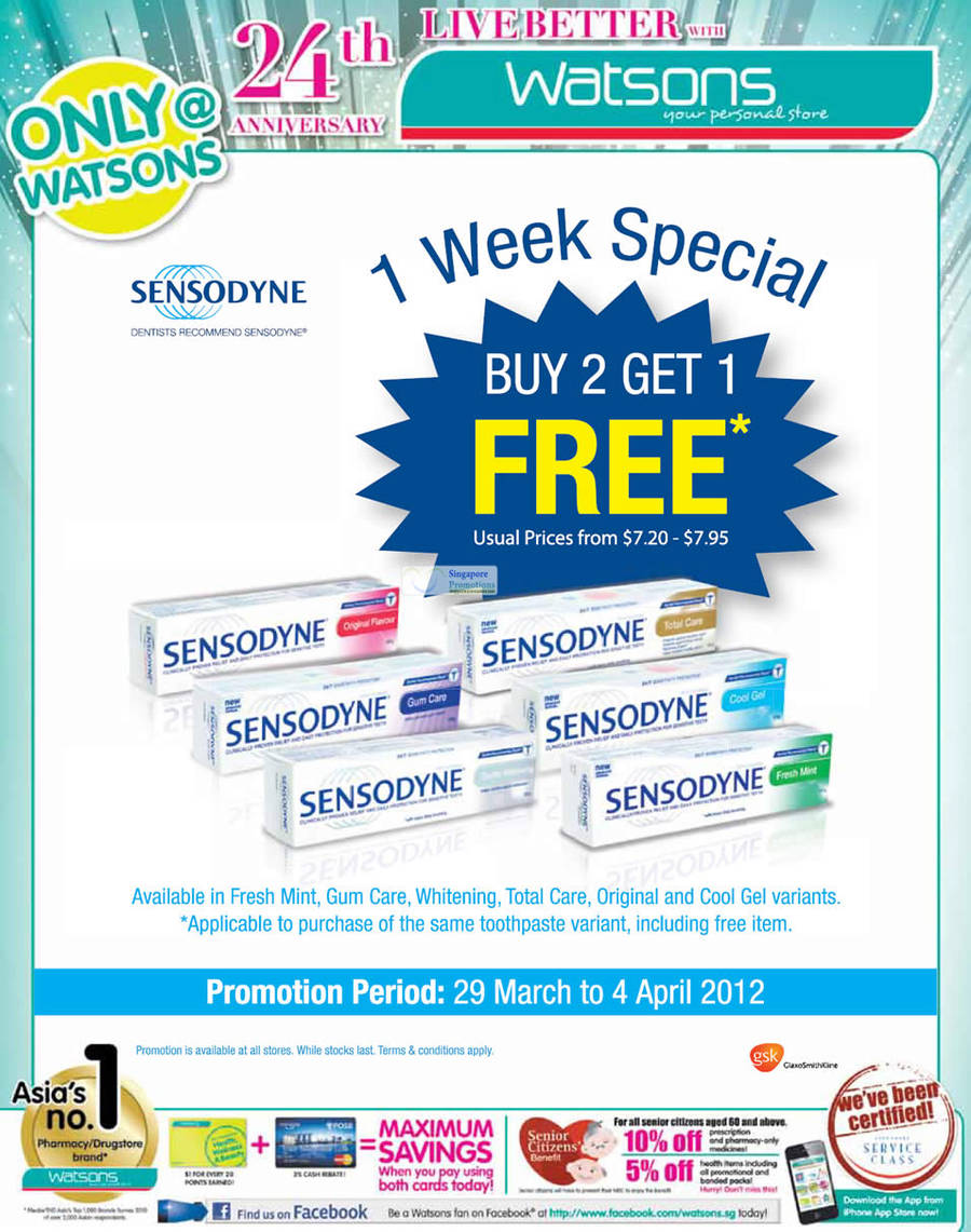 SENSODYNE Fresh Mint, SENSODYNE Gum Care, SENSODYNE Whitening, SENSODYNE Total Care, SENSODYNE Original , SENSODYNE Cool Gel