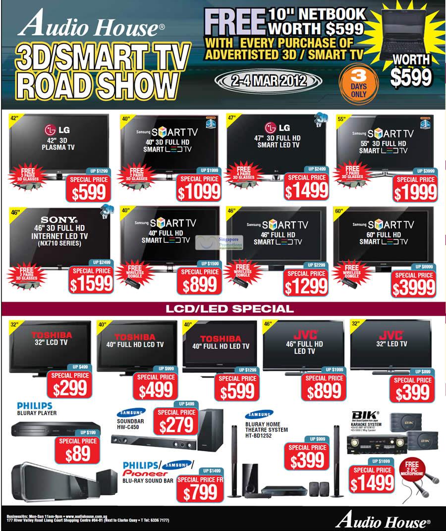 Smart TVs, LED TVs, LCD TVs