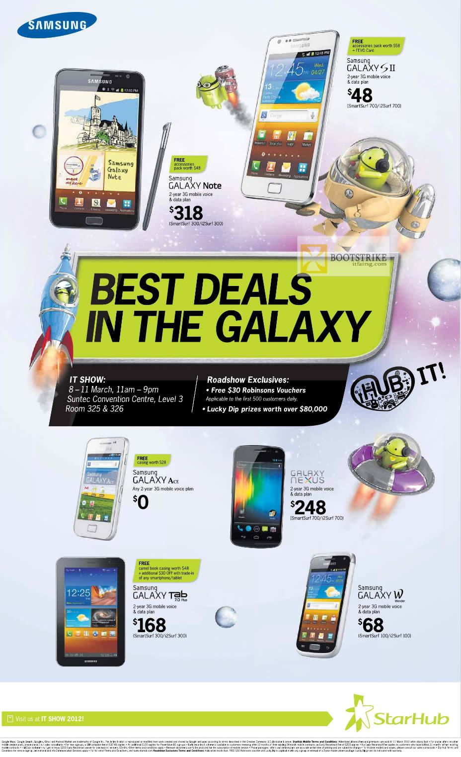 Starhub Samsung Galaxy Note, Galaxy S II, Galaxy Ace, Galaxy Nexus, Galaxy Tab 7.0 Plus, Galaxy W