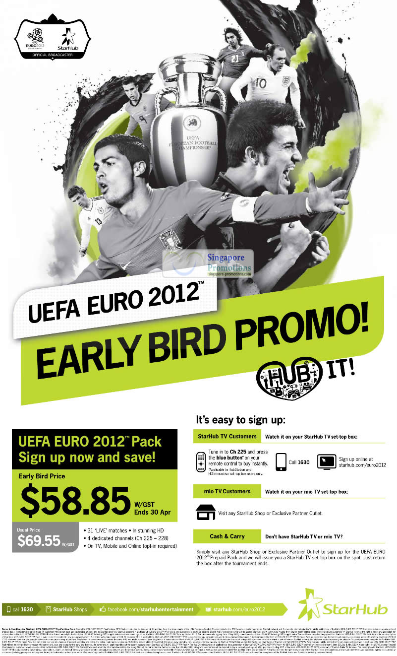 UEFA Euro 2012 Pack Early Bird Promotion