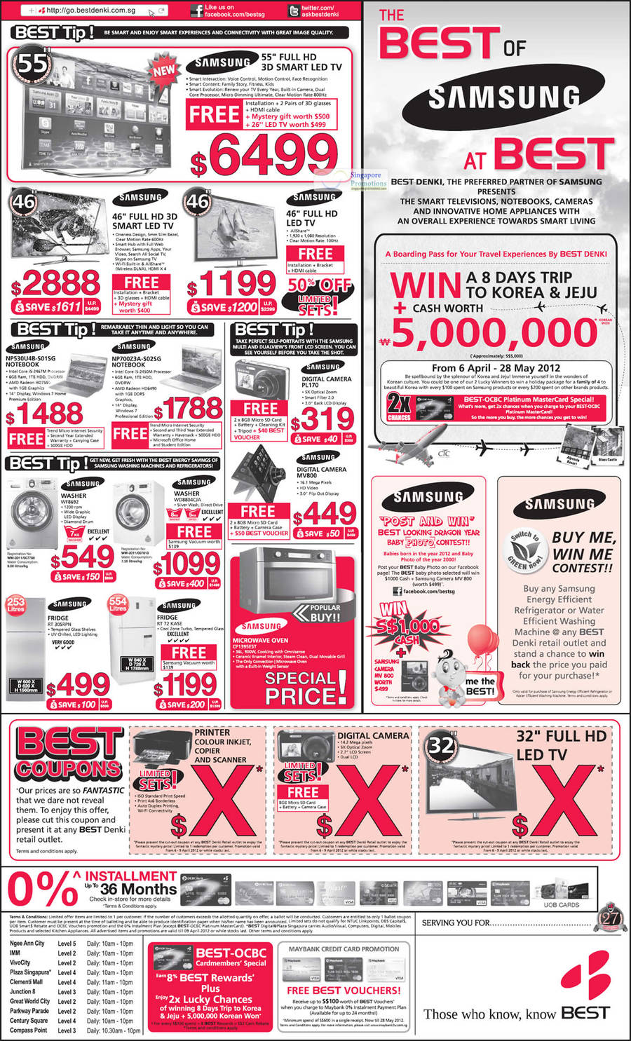 13 April Samsung TV, Digital Cameras, Appliances