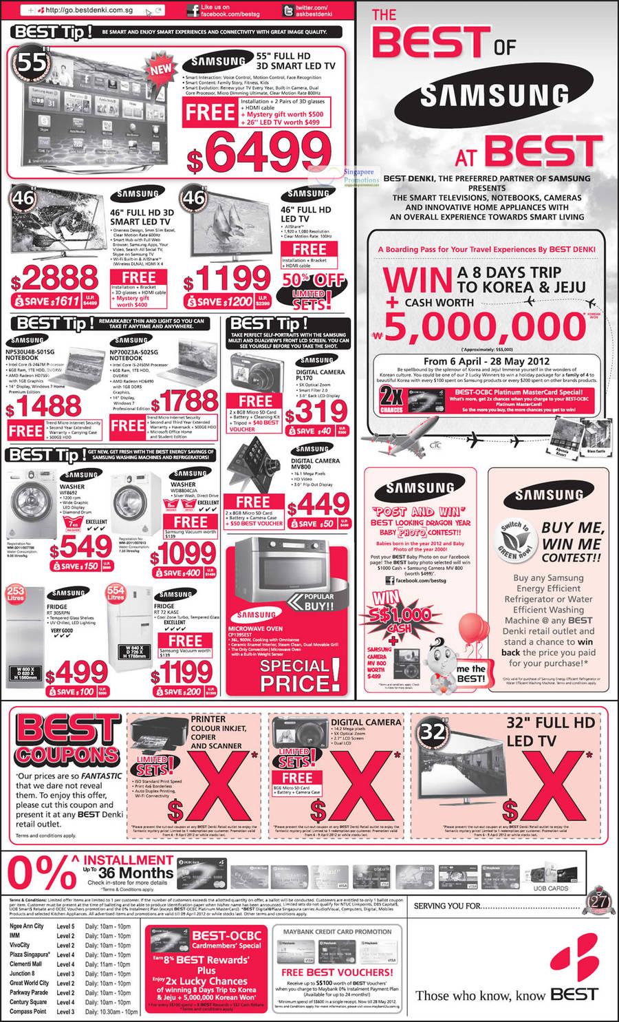 13 April Samsung TV, Digital Cameras, Appliances