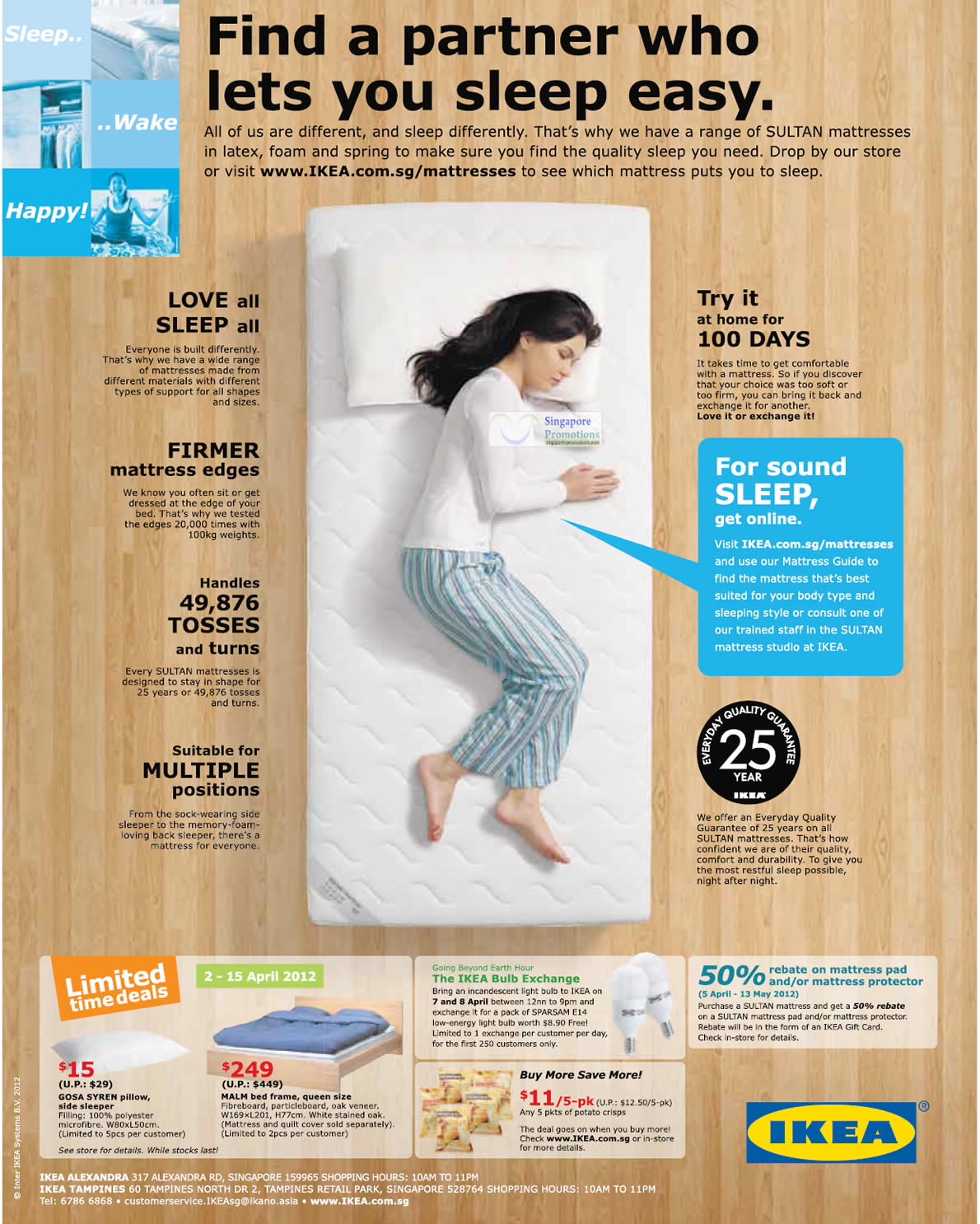 5 Apr Limited Time Deals, 50 Percent Off Mattress Pad Or Protector