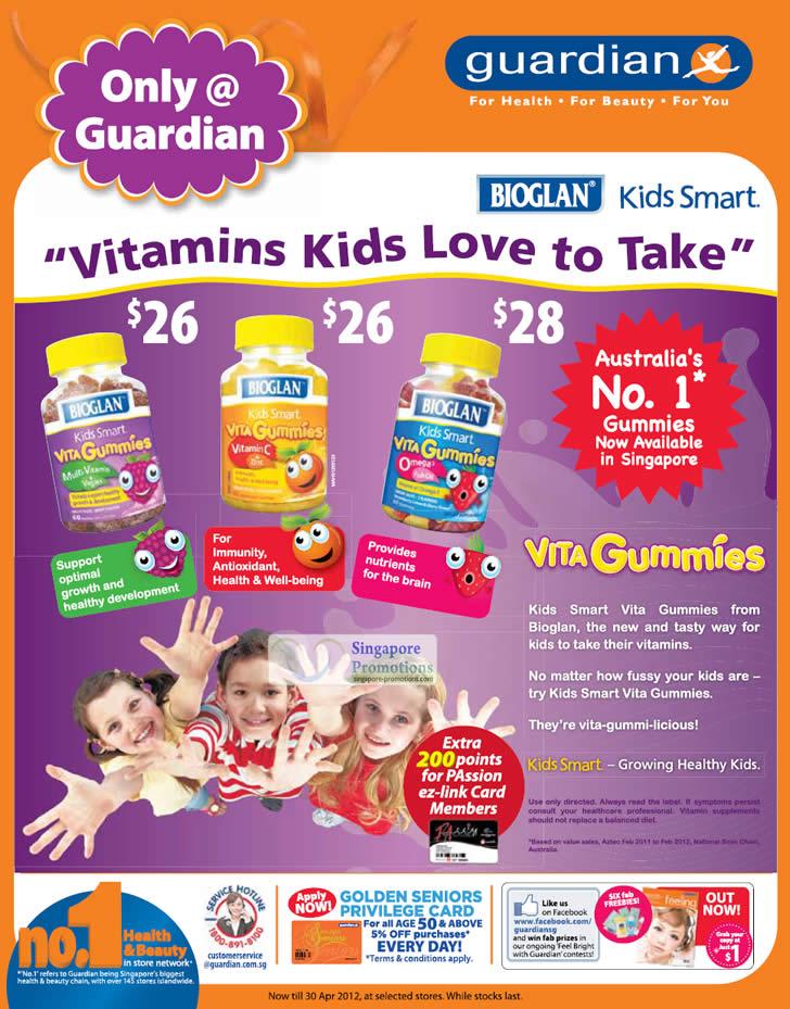 BIOGLAN Kids Smart Vita Gummies Multivitamin, BIOGLAN Kids Smart Vita Gummies Vitamin C, BIOGLAN Kids Smart Vita Gummies Omega 3