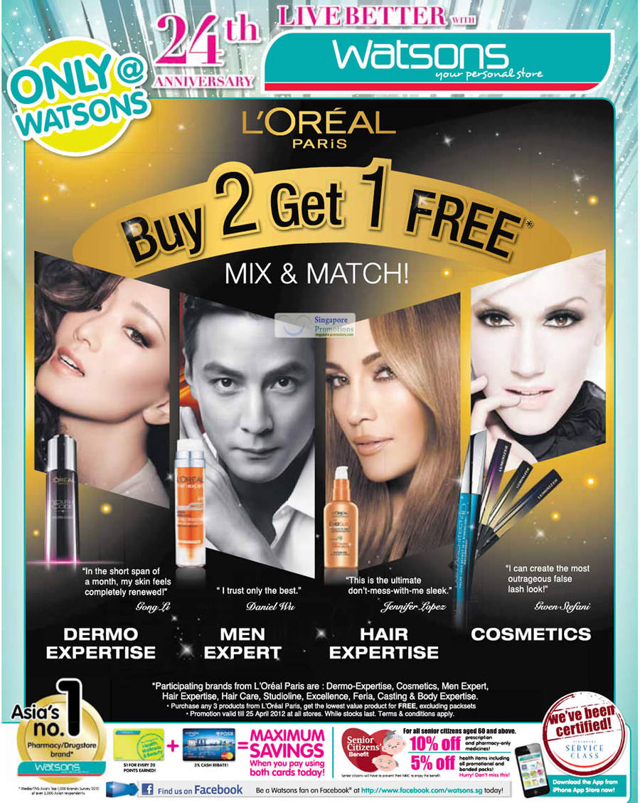 LOREAL PARIS DERMO EXPERTISE, LOREAL PARIS MEN EXPERT, LOREAL PARIS HAIR EXPERTISE, LOREAL PARIS COSMETICS