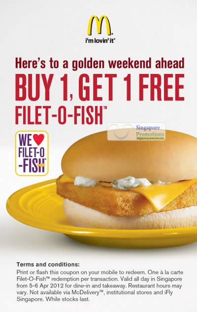 Mcdonalds 4 apr 2012 mcdonald s singapore 1 for 1 filet for Filet o fish friday 2017