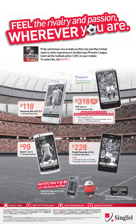 Samsung Galaxy S II, HTC One X, Prada Phone by LG 3.0, Sony Xperia Arc S