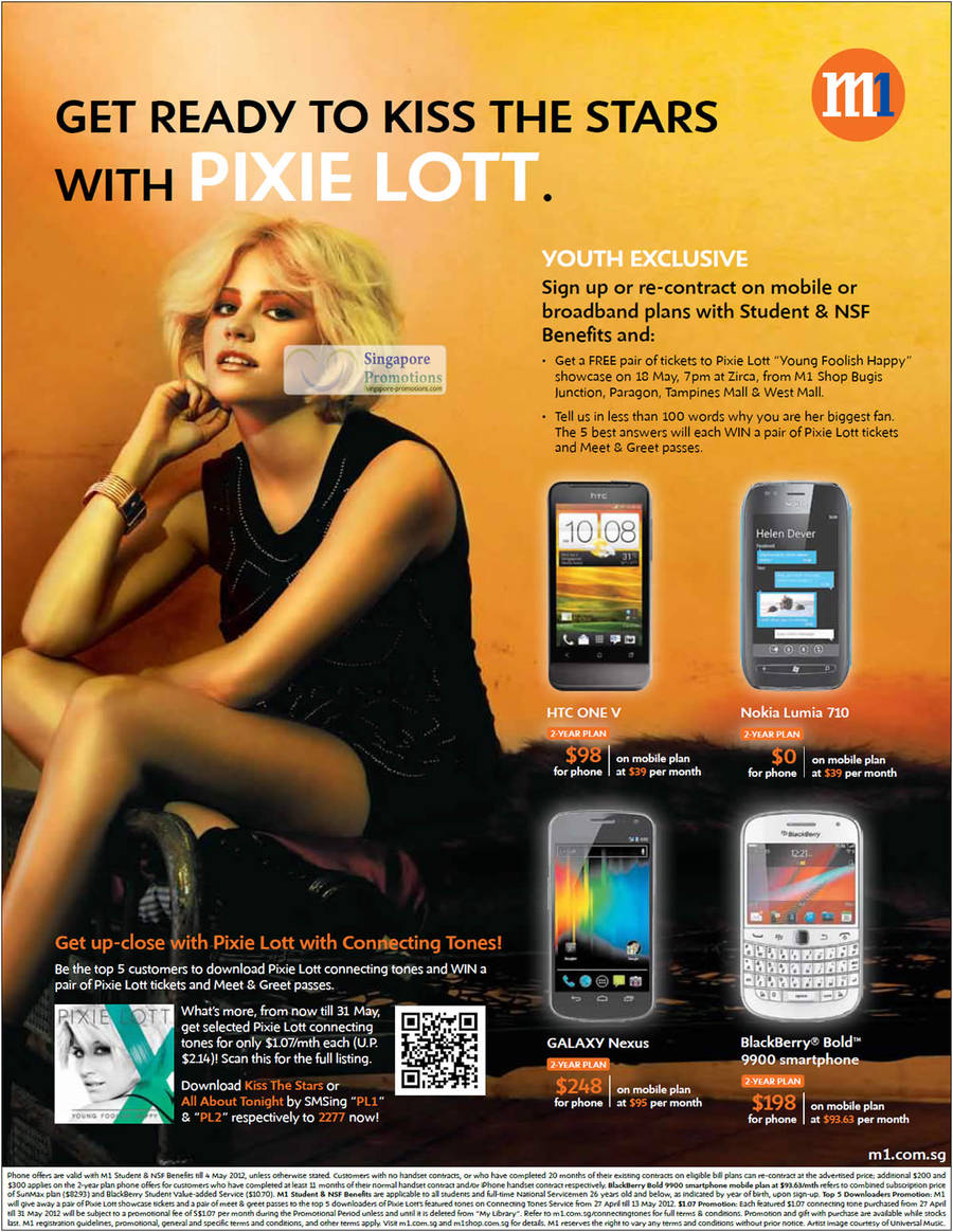 Youth Exclusive HTC One V, Nokia Lumia 710, Galaxy Nexus, Blackberry Bold 9900