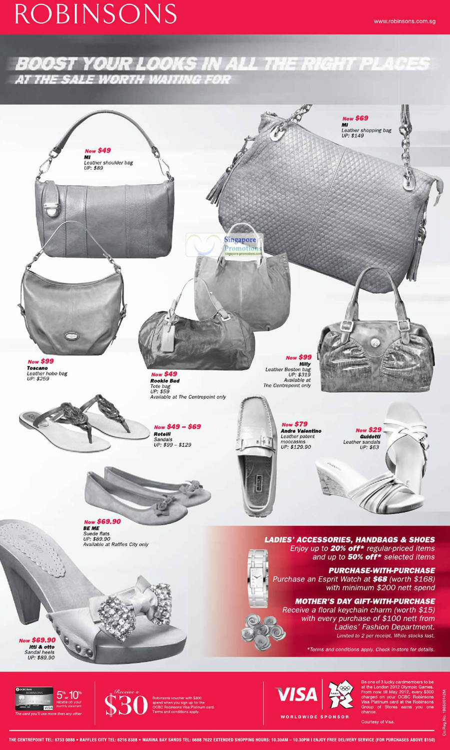 MI Leather Shopping Bag, Hilly Leather Boston Bag, Toscano Leather Hobo Bag, Be Me Suede Flats and Itti & Otto Sandal Heels