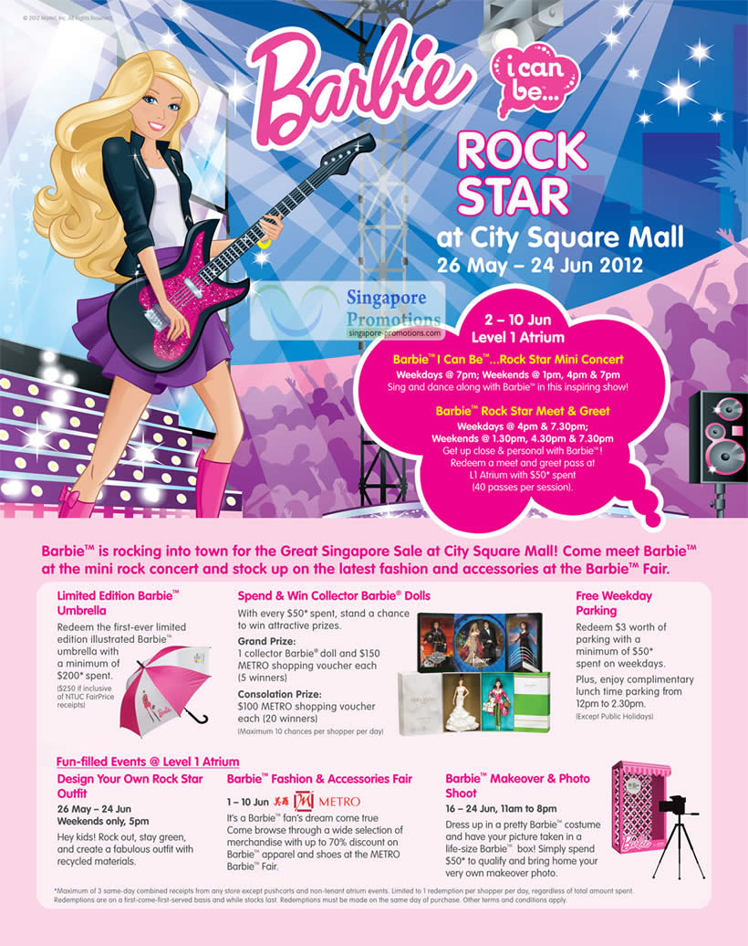 Barbie Events, Promotions, Activities