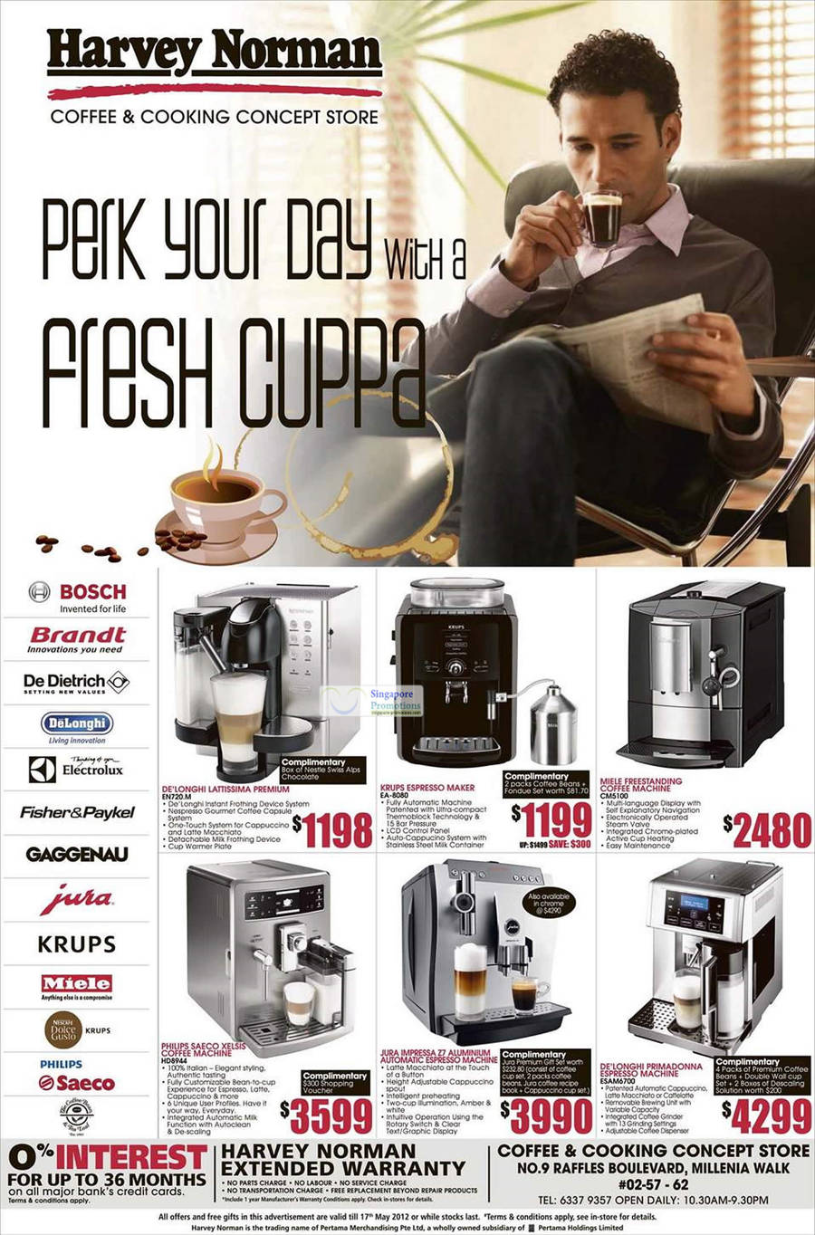 DE LONGHI LATTISSIMA PREMIUM EN720M, KRUPS ESPRESSO MAKER EA-8080, Philips Saeco XELSIS Coffee Machine HD8944, DELONGHI PRIMADONNA ESPRESSO MACHINE ESAM6700, MIELE FREESTANDING COFFEE MACHINE CM5100