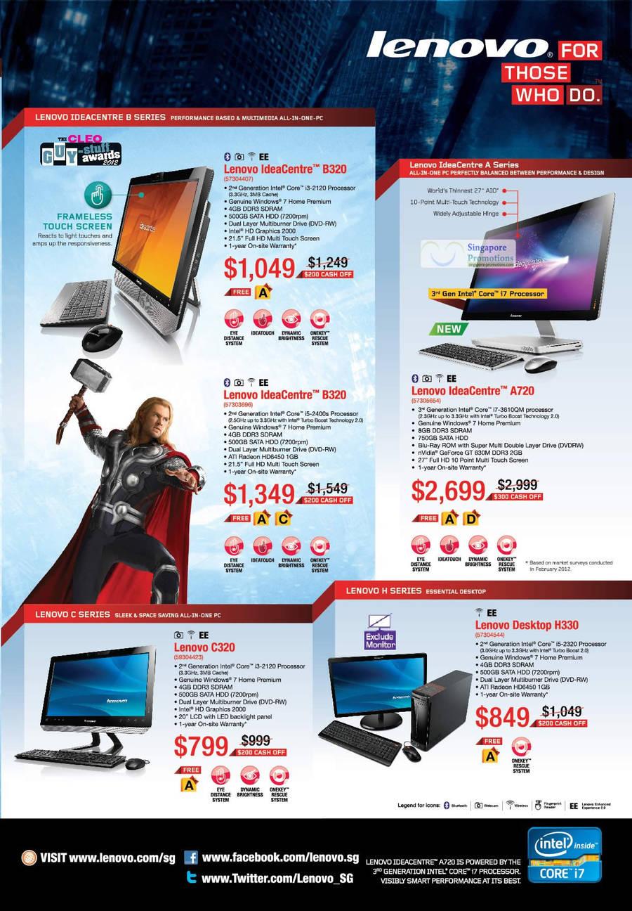 Lenovo IdeaCentre B320 Desktop PC, Lenovo IdeaCentre B320 Desktop PC, Lenovo C320 Desktop PC, Lenovo IdeaCentre A720 Desktop PC, Lenovo H330 Desktop PC