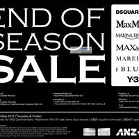 Read more about Dsquared2, MaxMara, Marina Rinaldi, Max&Co, Marelle, iBlues & Y-3 Sale 24 May 2012